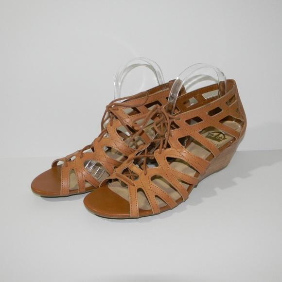 e3fbfc1a3f29 Crown Vintage Shoes - Crown Vintage Divina Lace Up Gladiator Wedges